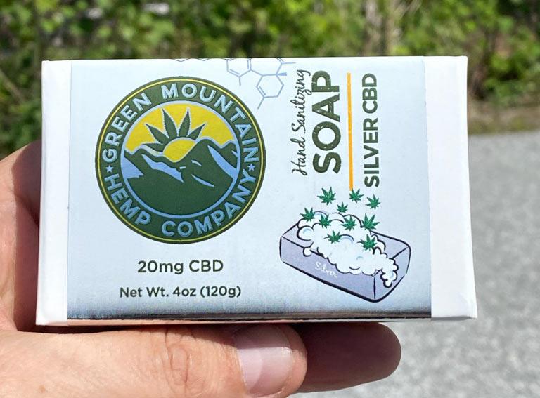 Green Mountain Hemp Comp Company Colloidal Silver and CBD Soap